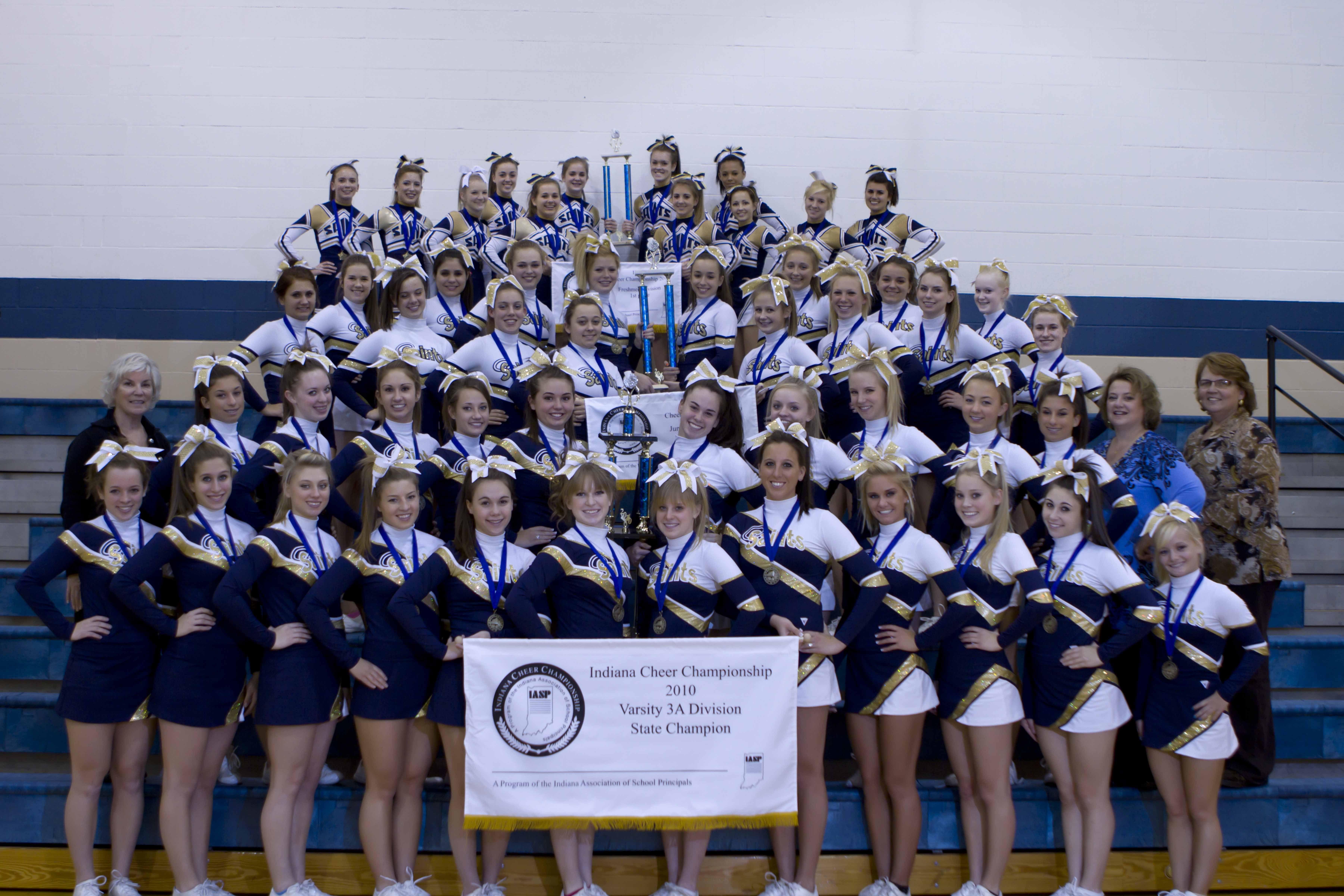 Bishop Dwenger Cheerleading Teams Sweep State Championships
