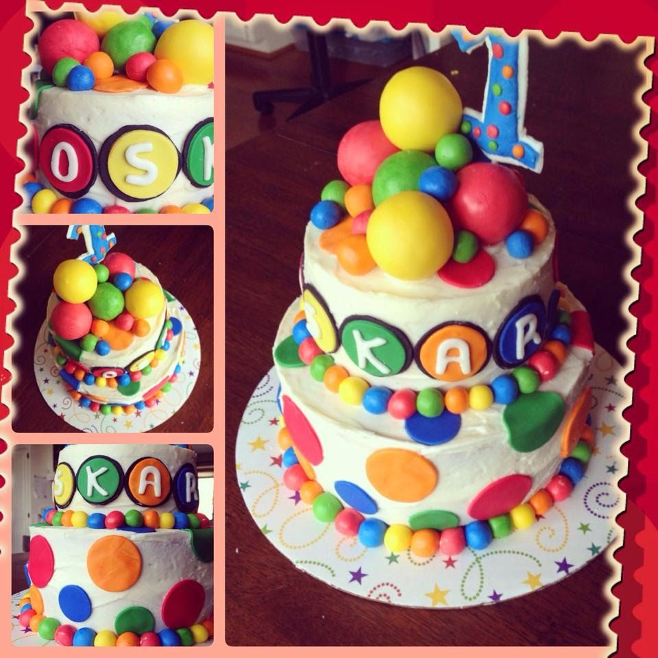 Enjoyable Bouncy Ball Cake With Images Bouncy Ball Birthday Ball Theme Funny Birthday Cards Online Inifodamsfinfo
