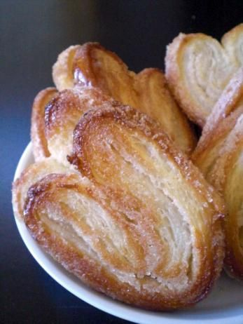 "Sugary Flurry Palmiers : ""Buttery and elegant homemade palmier cookies."" — gloribelle_5342230   If you like these, try Anne's Palmiers."