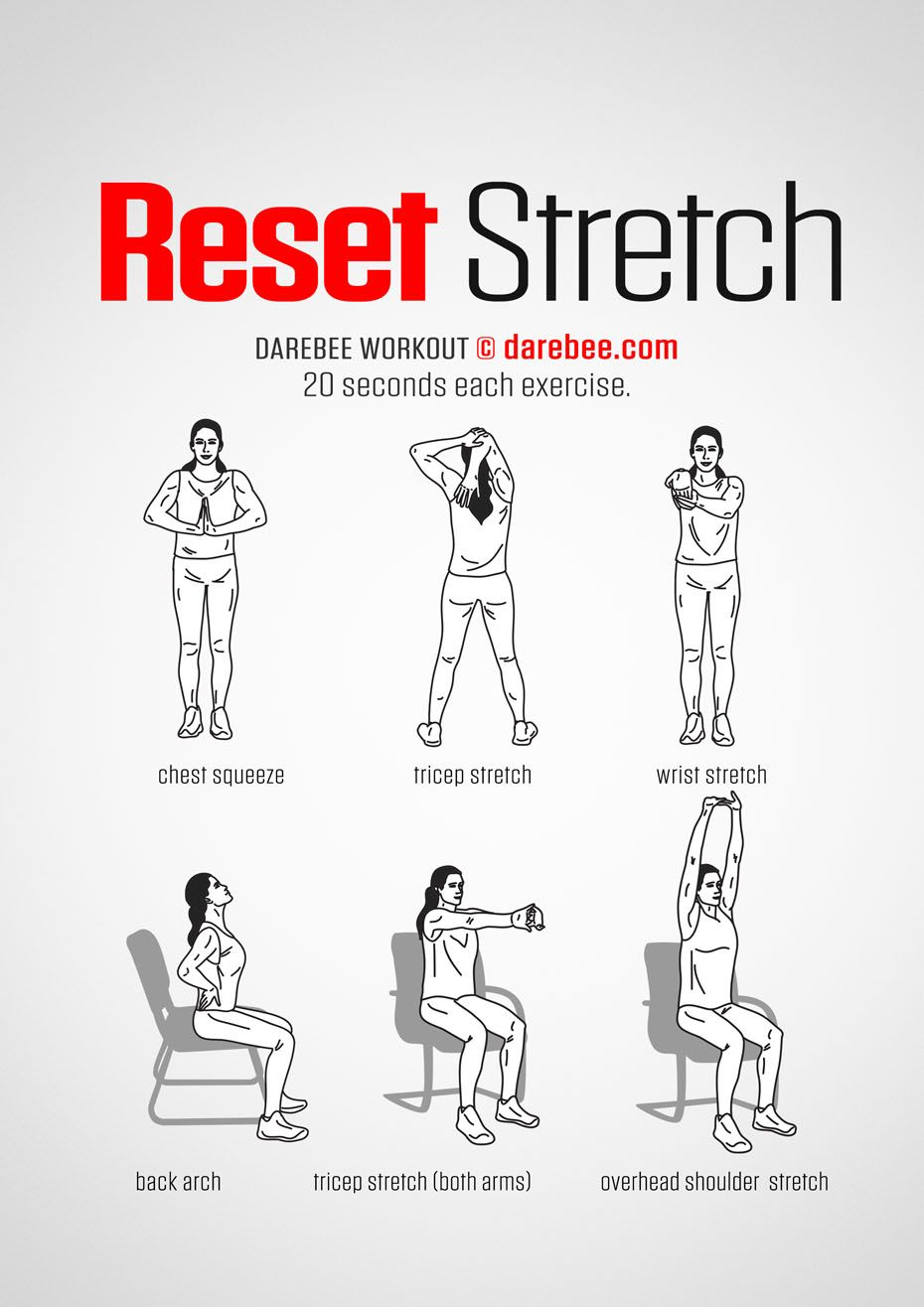Reset Stretch workout  Get Fit  Office exercise Yoga