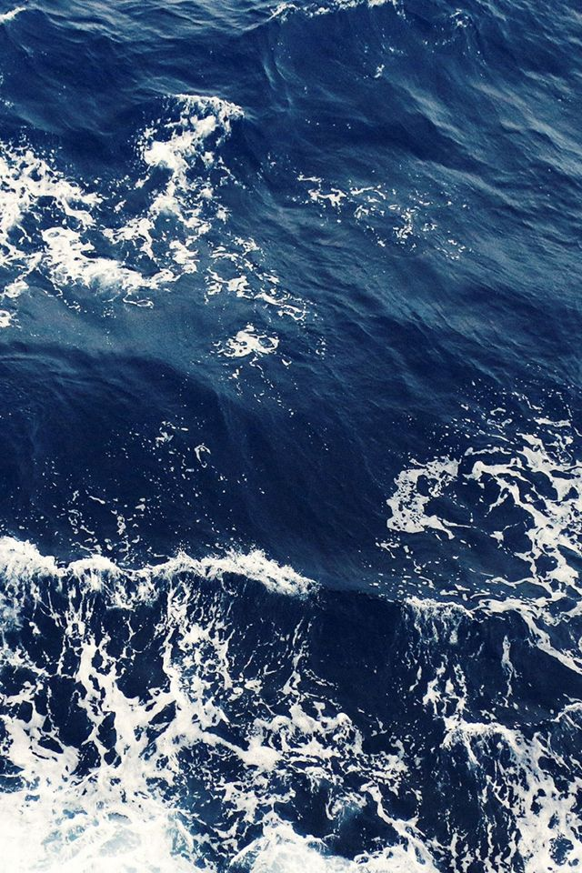 Foamy Blue Ocean Waves IPhone 4s Wallpaper