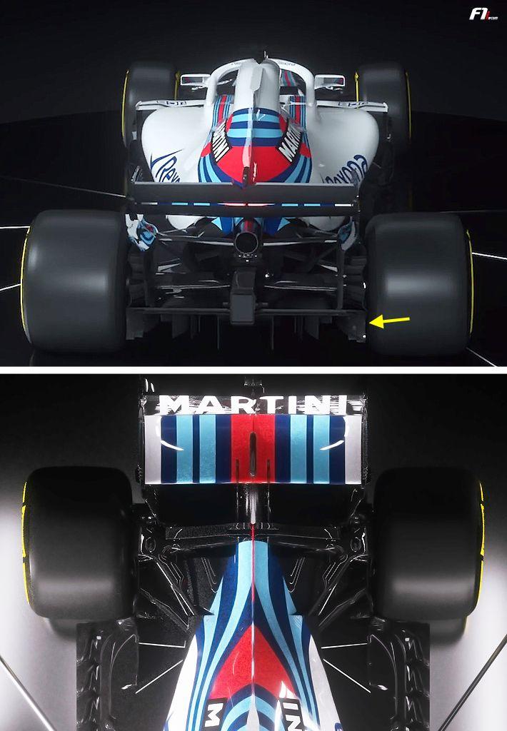 f1 2018 williams fw41 rear diffuser f1 williams f1 formula 1 e racing. Black Bedroom Furniture Sets. Home Design Ideas