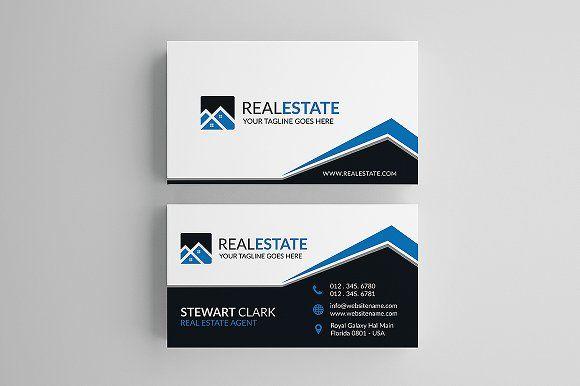 Creative Real Estate Business Card Real Estate Business Cards Free Business Card Templates Business Card Template Design
