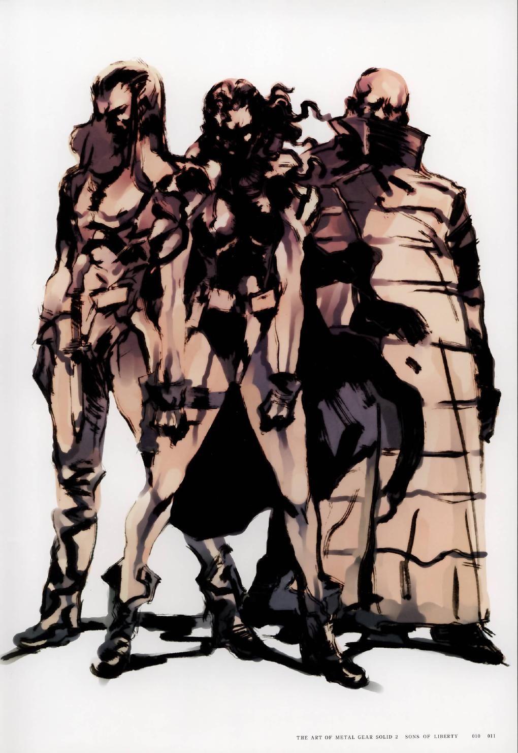 Metal Gear Solid 2 Concept Art - Dead Cell Concept Art