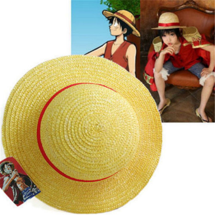 One Piece Luffy Straw Cosplay Hat Price 12 50 Free Shipping Dragonballz Onepiece Attackontitan Naruto Anime Hats One Piece Luffy Anime Halloween