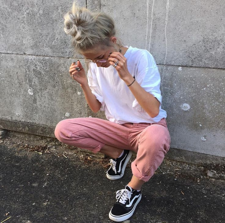 a85a80ea9a pink sweaters and old skool van pinterest