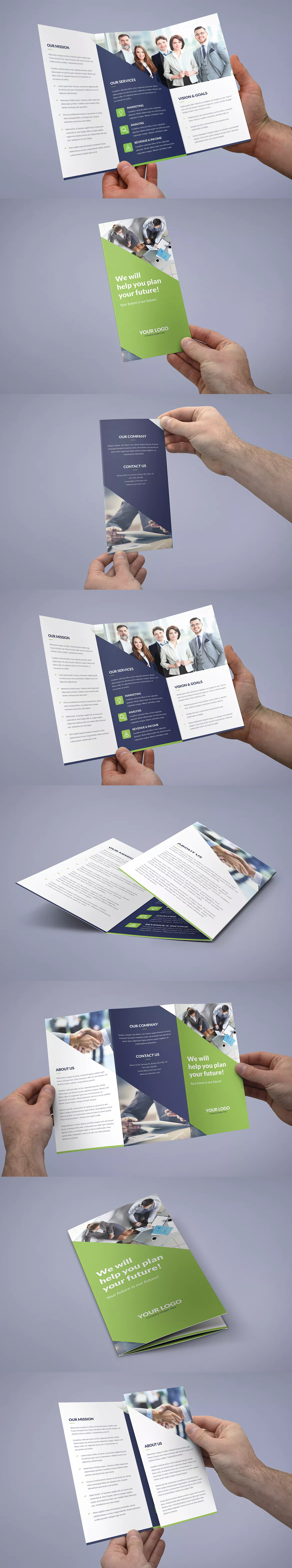 brochure company tri fold template psd a4 and us letter size