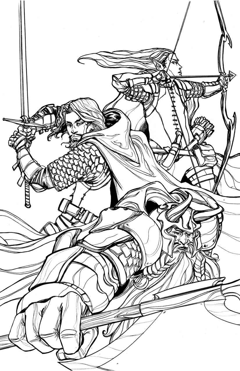 Gimli Aragorn And Legolas By Anchan On Deviantart Book Illustration Art Coloring Pages Coloring Books