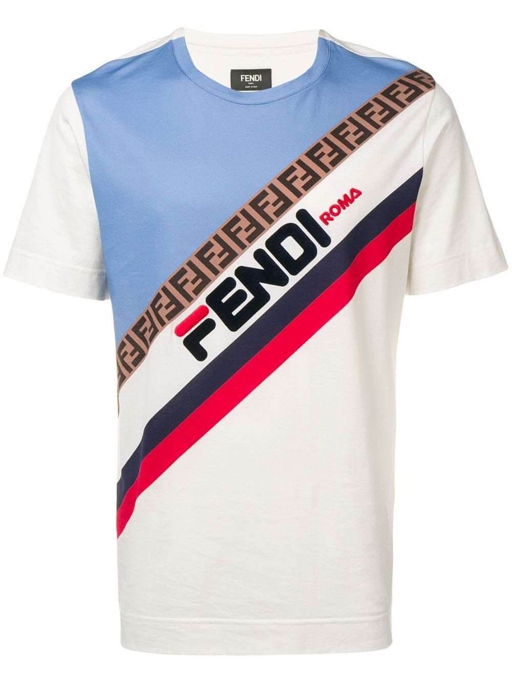 999b126d3353d FENDI FENDI LOGO PRINT T-SHIRT - NEUTRALS.  fendi  cloth