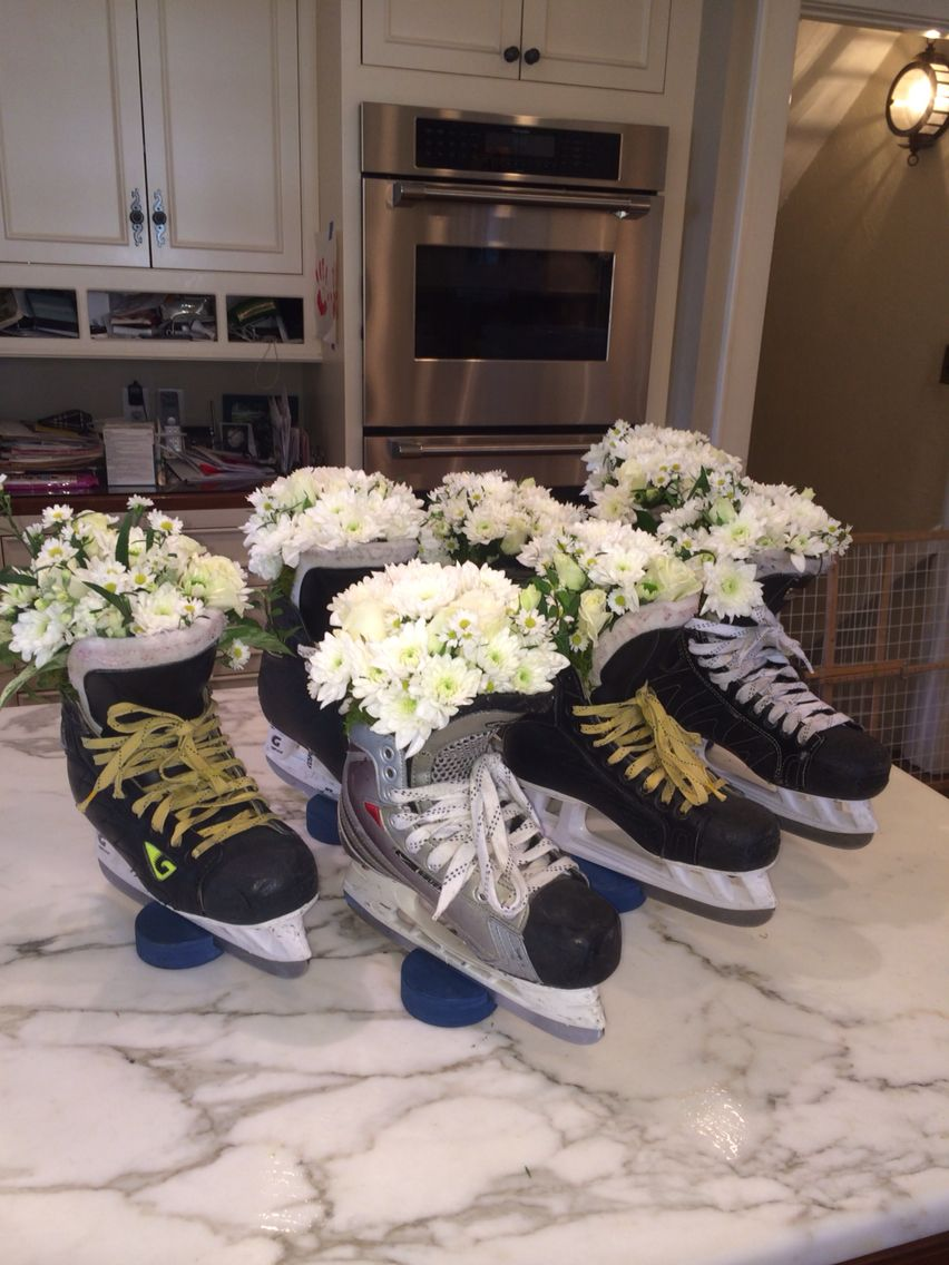 Hockey Banquet Centerpieces Beautiful Things Hockey Wedding Hockey Centerpieces