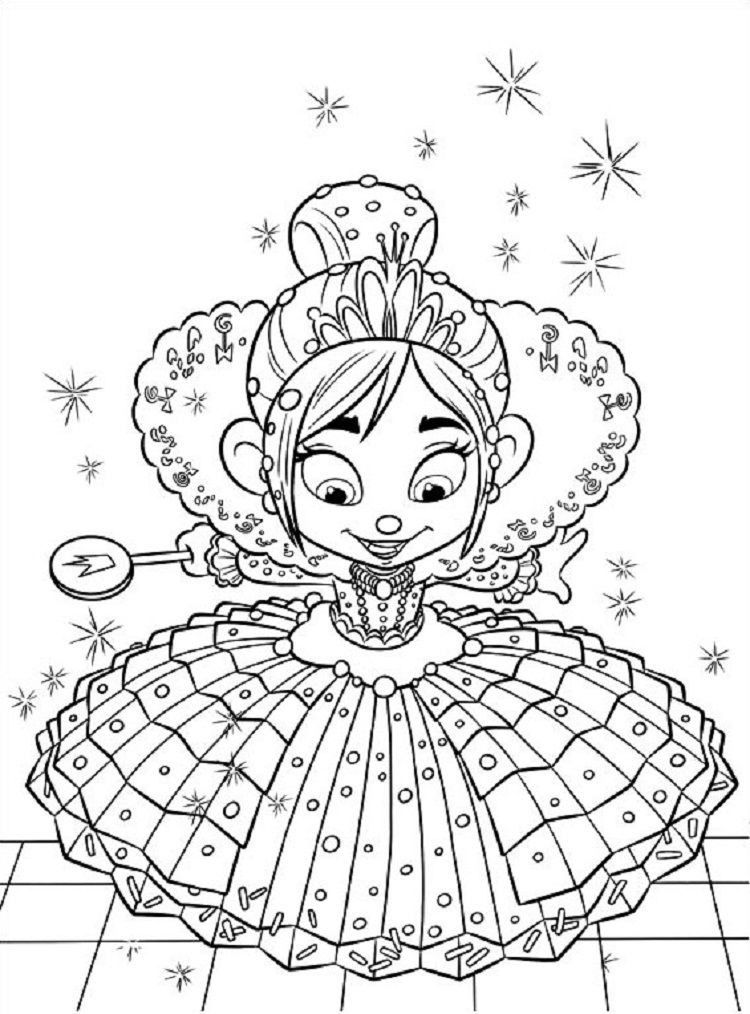 Vanellope Von Schweetz Princess Coloring Page Youngandtae Com In 2020 Disney Coloring Pages Princess Coloring Pages Coloring Pages