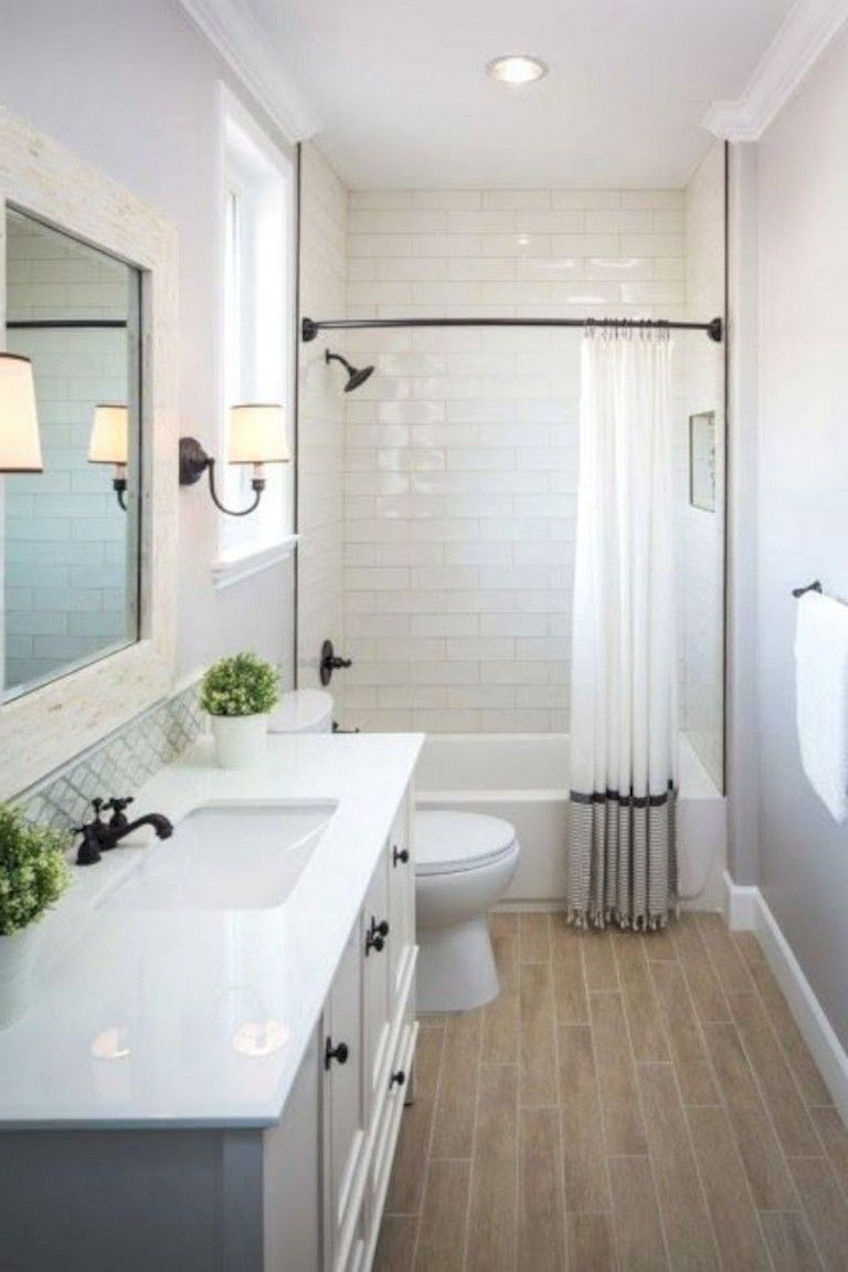 20 Simple Bathroom Remodeling Ideas Your On A Budget Bathroom Remodeling Bathroomideas Bathroom Design Small Small Master Bathroom Small Farmhouse Bathroom