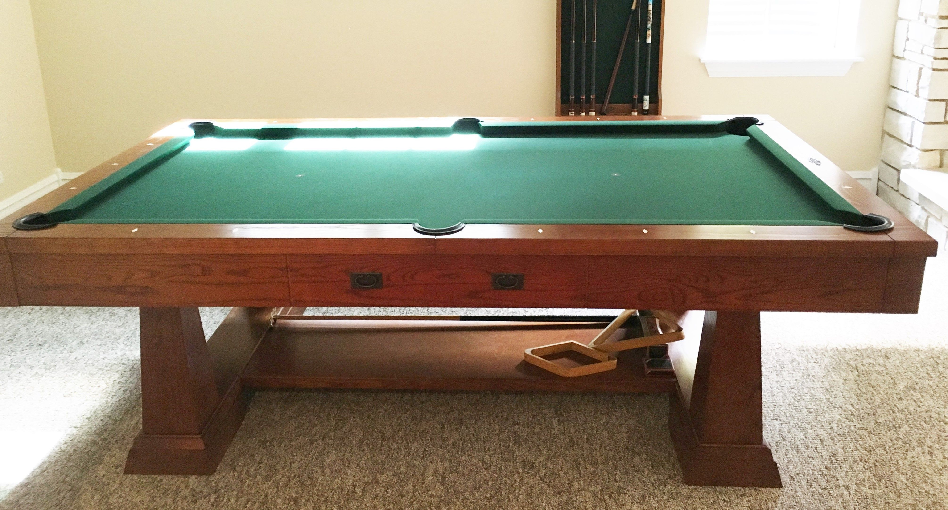 Brunswick 8 39 artisan pool table sold sold used pool for Brunswick pool tables