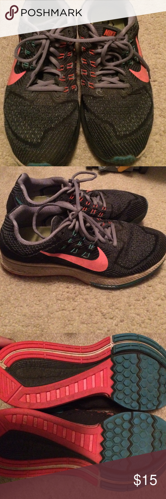 Nike running sneakers Running sneakers 👟 gently used as shown in pictures Nike Shoes Athletic Shoes