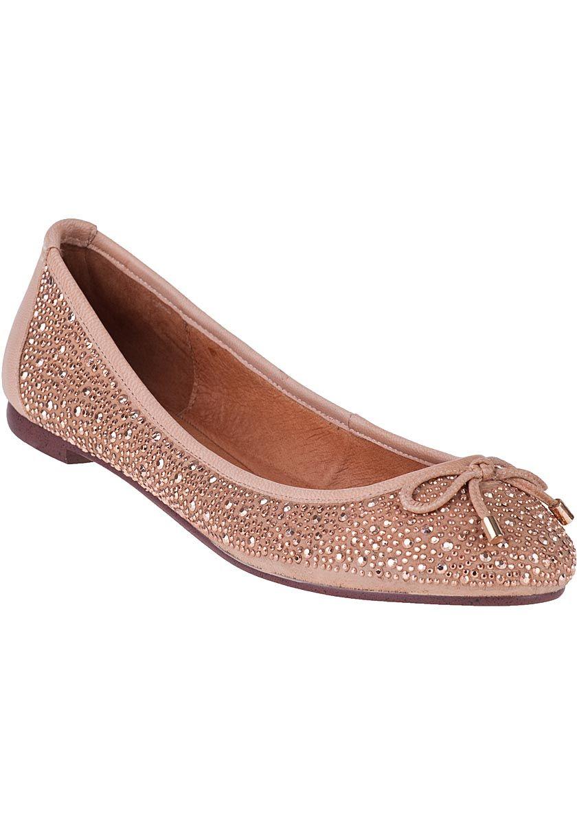 Jeffrey Campbell - Ana-Stud Ballet Flat Pink Leather. cutsie!