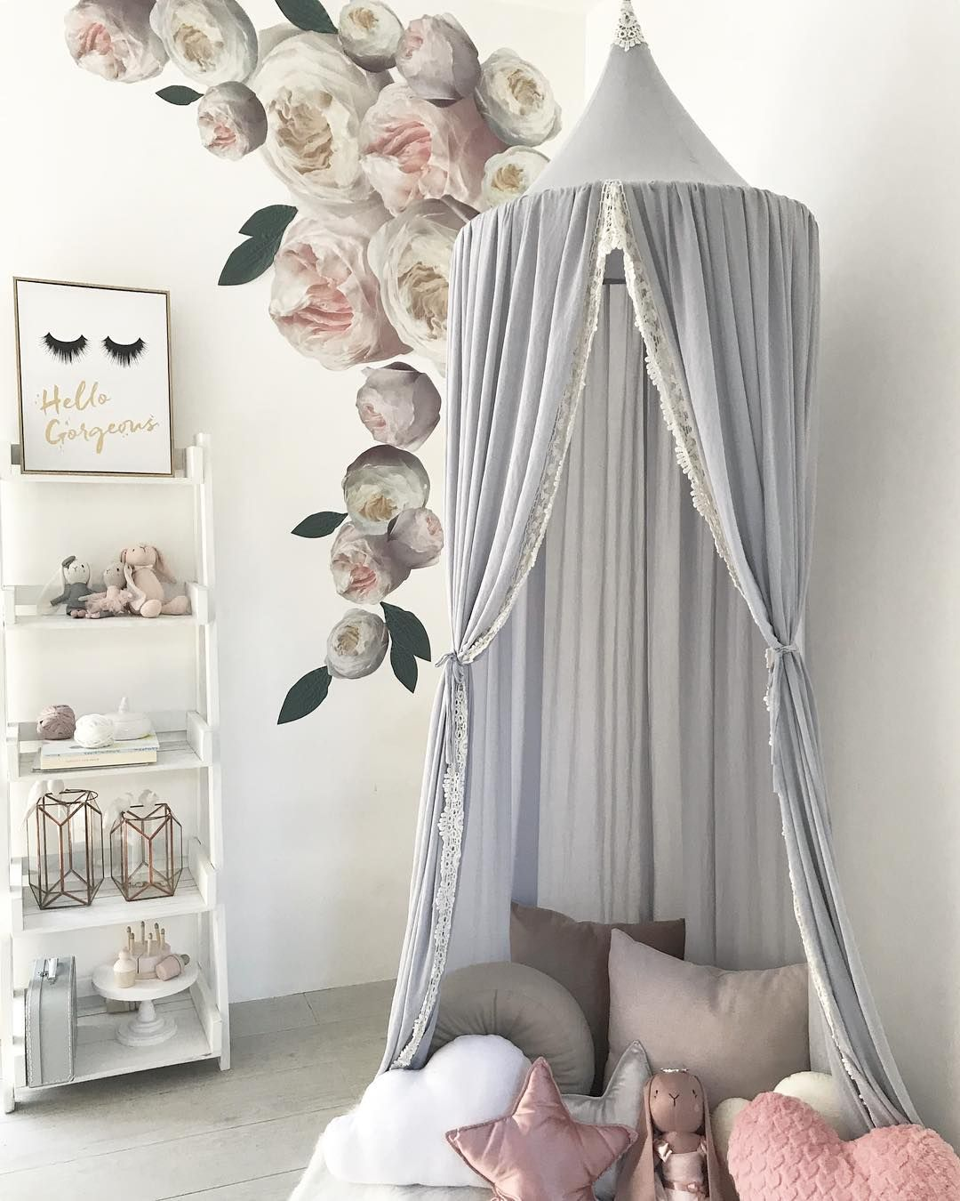 Beautiful kidu0027s lace canopy dolls and cushions