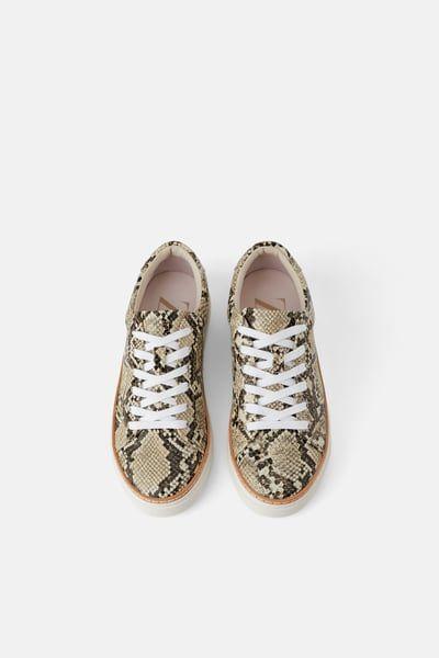 Animal print sneakers   Sneakers, Zara