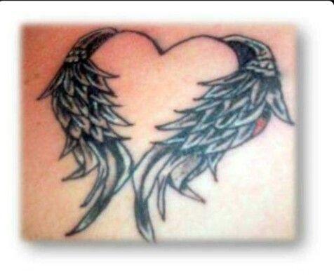 Corazon Tatuaje De Pie Tatuajes De Alas De Angel Tatuajes De Alas
