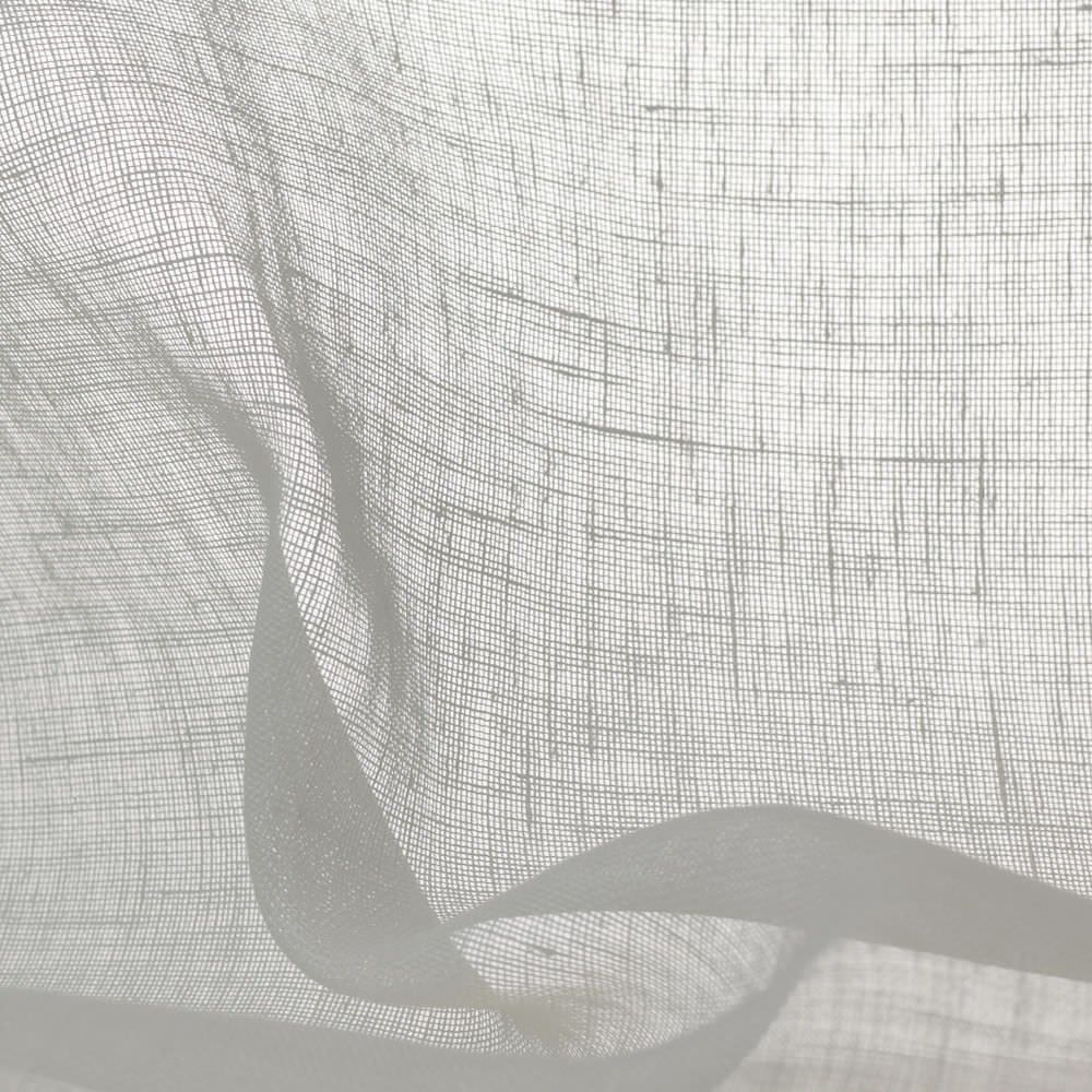 Details About Inbetween Faux Linen Fabric Plain Sheer Voile