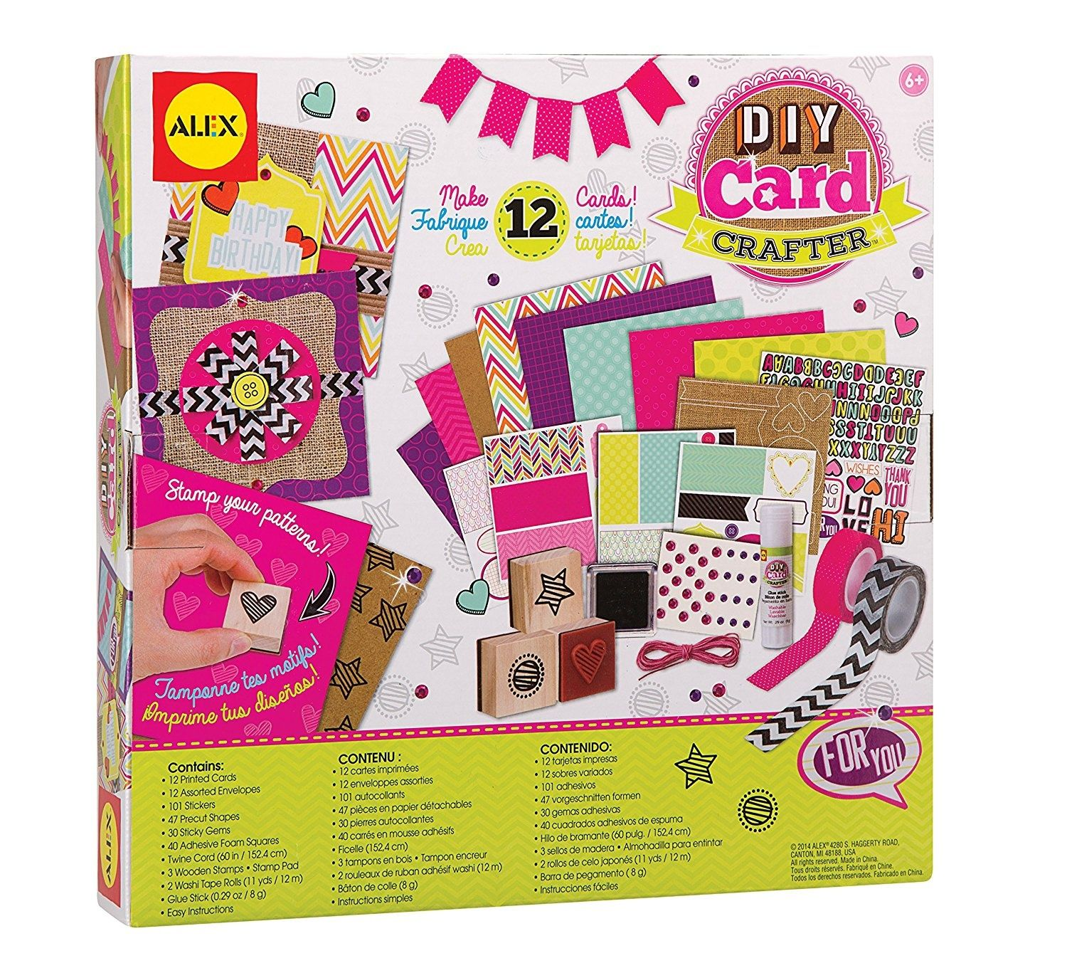 3 X Toys Craft Do It Yourself Card Crafter Card Kits Kits For Kids Toy Craft