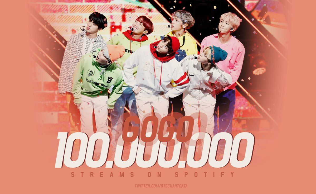 Go Go By Bts Has Surpassed 100m Streams On Spotify Becoming Their 7th Song To Reach This Mark Music Bts Go Go S Bts Billboard Album Songs Song Reviews