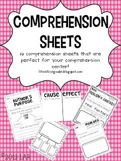 Free Comprehension Sheets!!