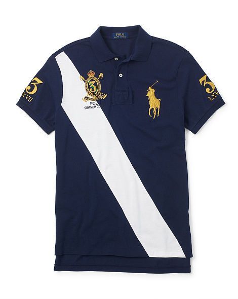 Classic Fit Banner Polo Mens Polo T Shirts Hipster Mens Fashion Polo Shirt Outfits