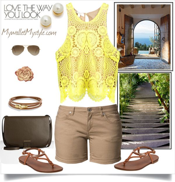 Love the way you look: Summer Time with khaki shorts and Lace