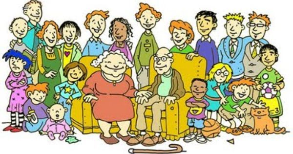 Spending Time With The Extended Family Family Clipart All In The Family Family