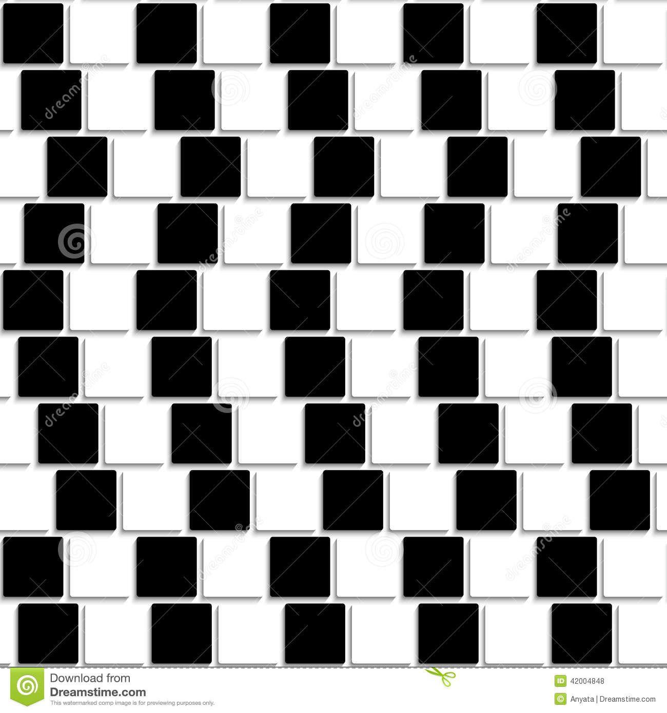 black and white tiles optical illusion