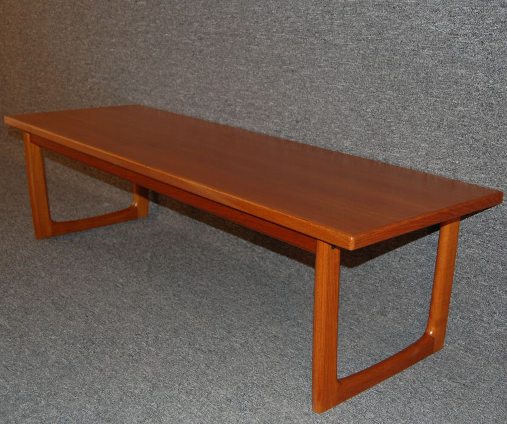 Ordinaire Swedish Mid Century Modern Teak Coffee Table Or Bench Image 2