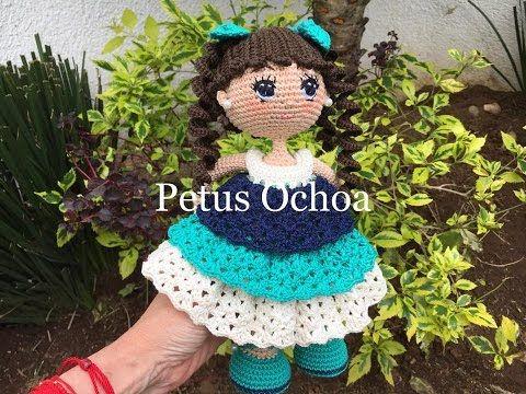 Como tejer Crochet amigurumi muñeca Alexa pies y piernas PRIMERA ...