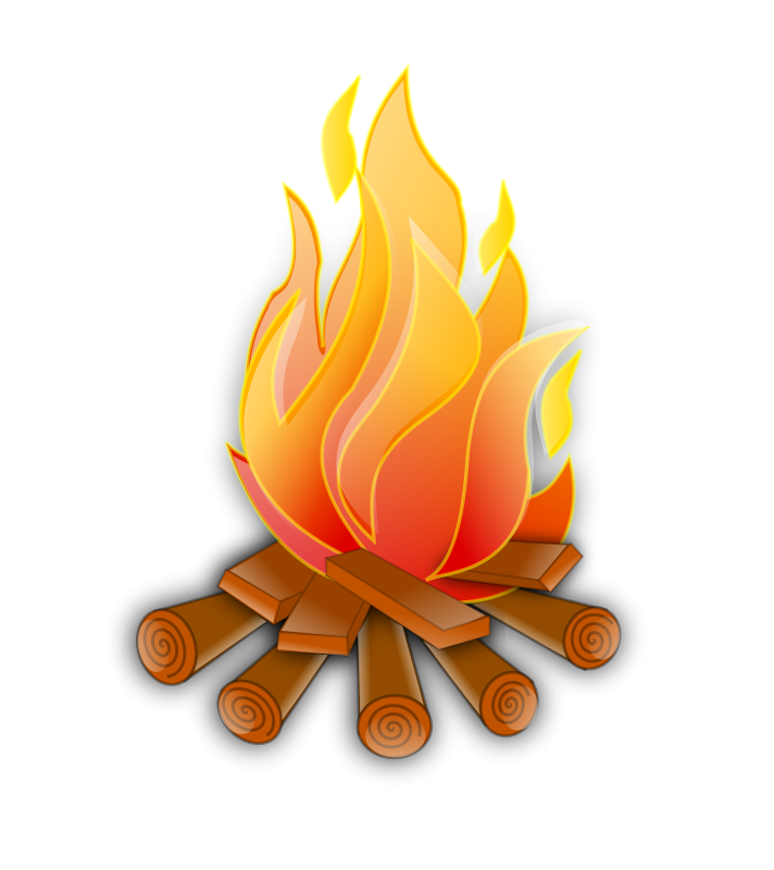 Fire camping. Camp theme clipart free