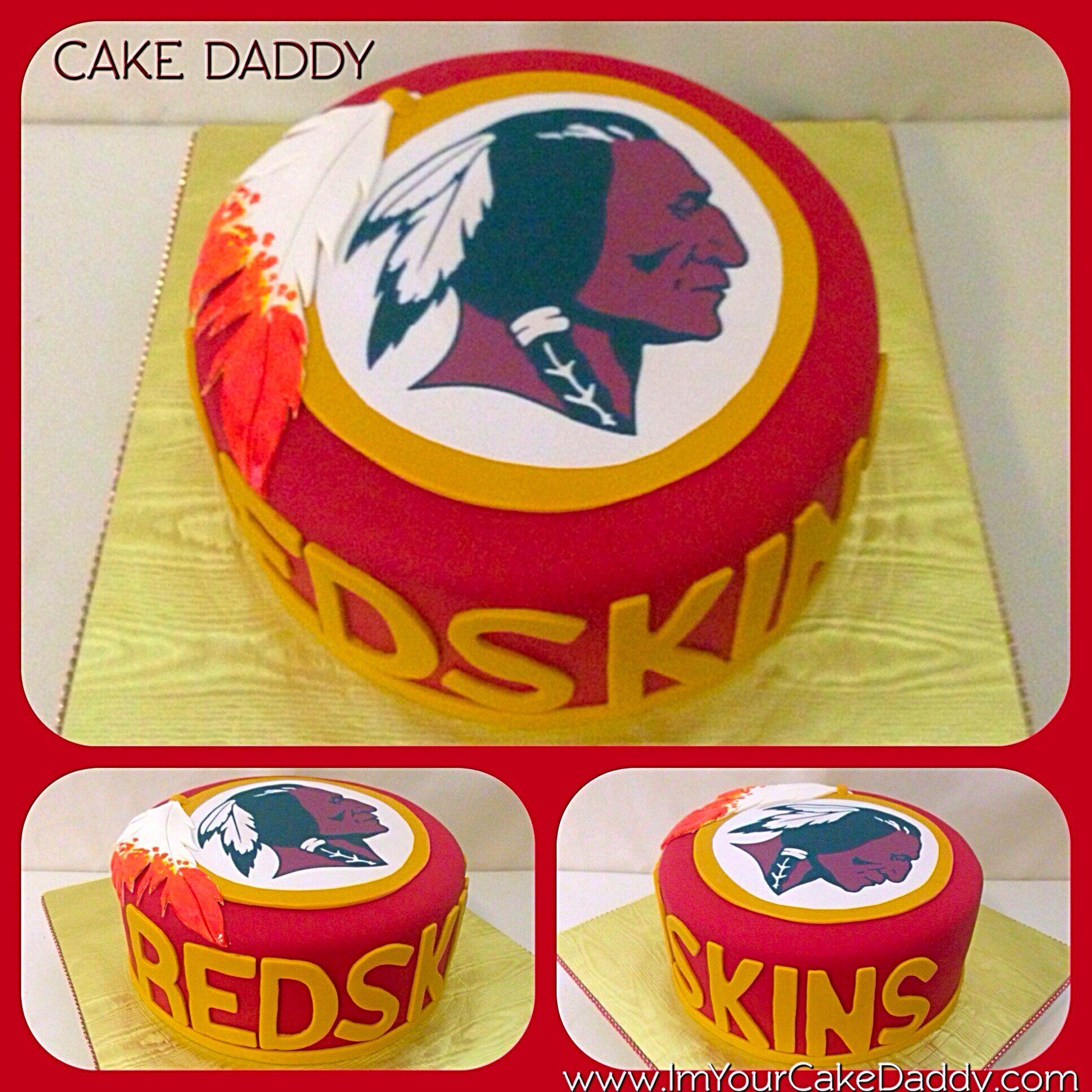 Washington Redskins birthday cake Custom Cakes by Cake Daddy