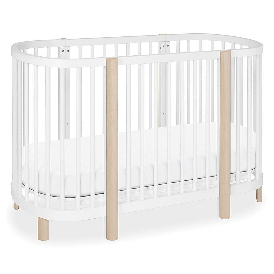 Babyletto Hula Convertible Oval Crib Mini Bassinet In White