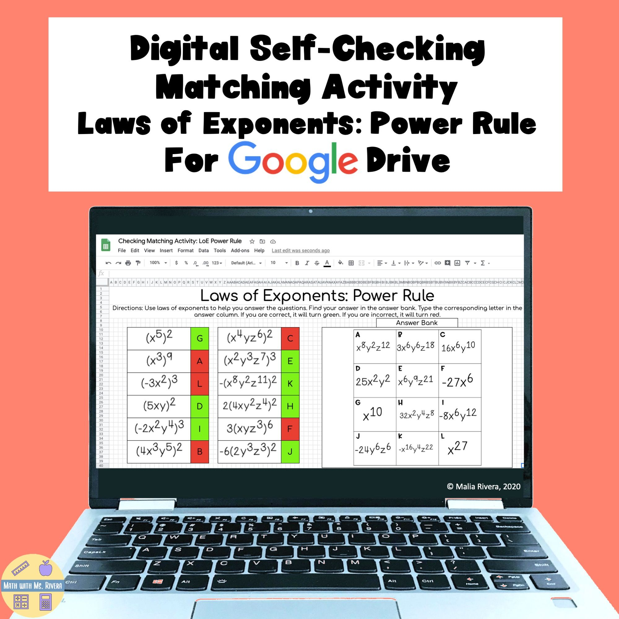 Laws Of Exponents Power Rule Digital Self Checking