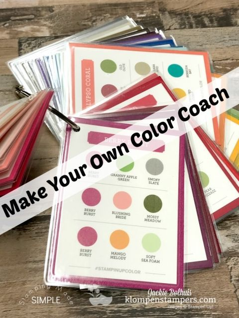 Make Your Own Color Coach #stampin#39;up!cards