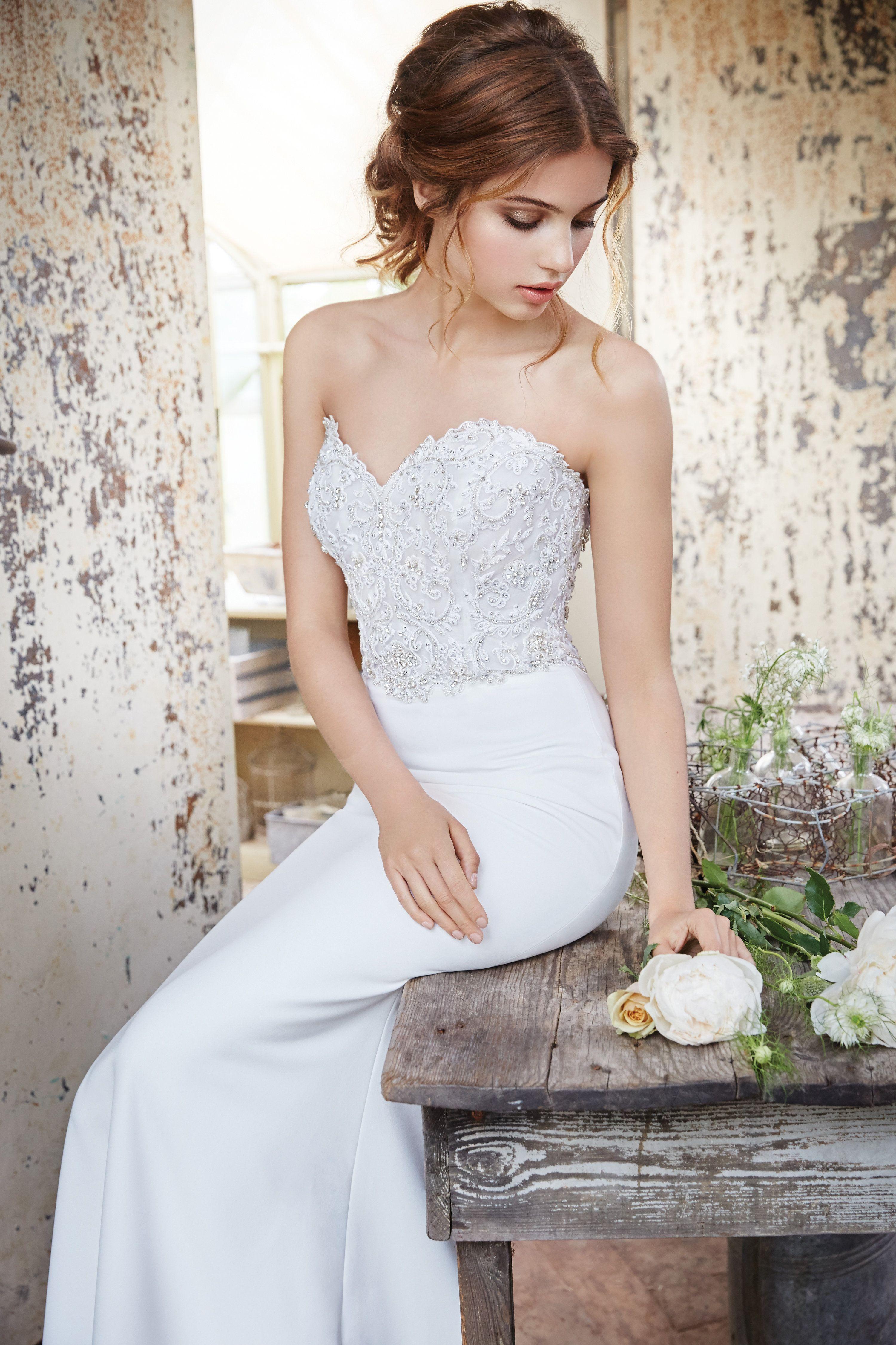 Style wd sheath wedding dress pinterest chapel train