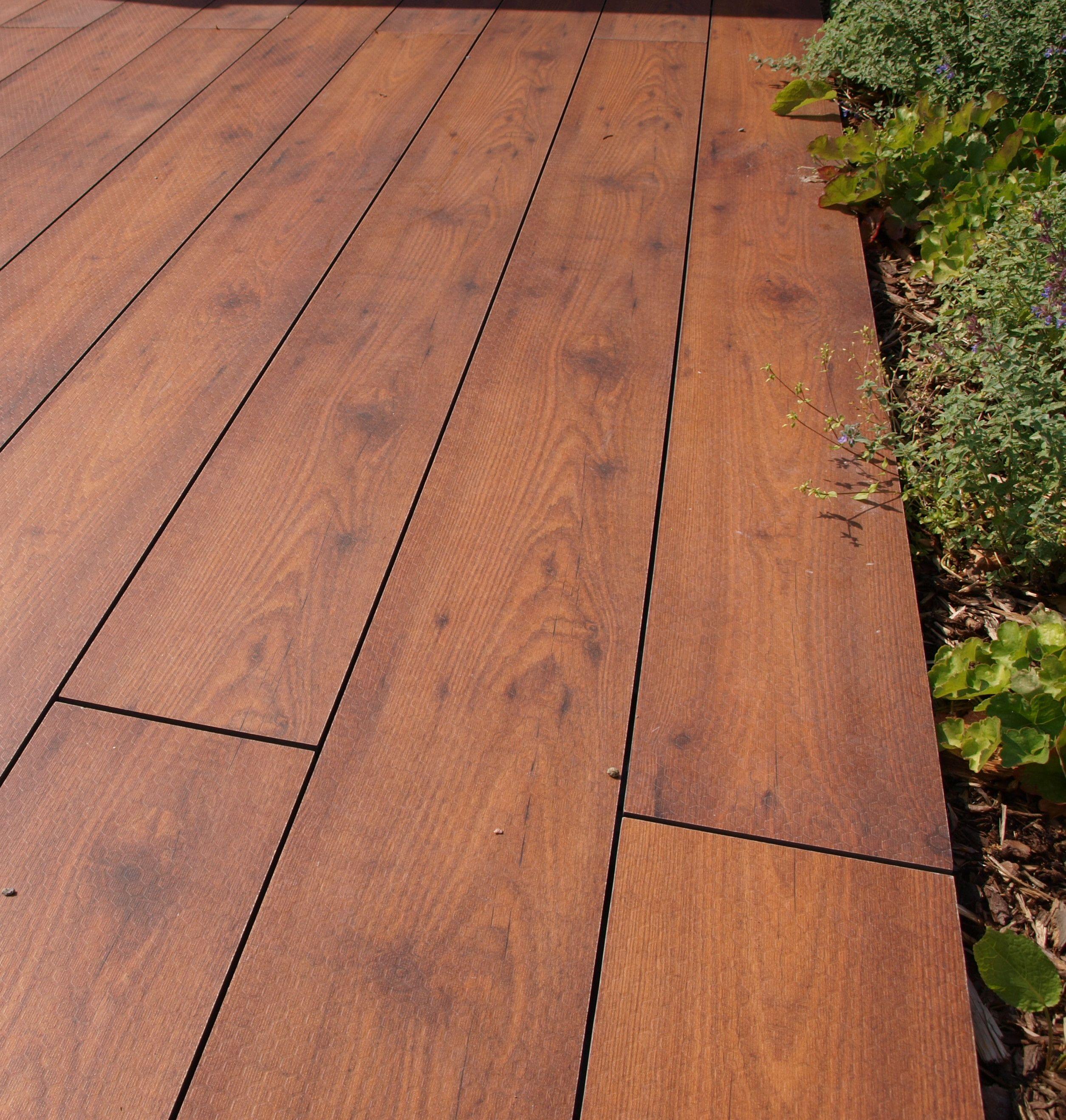 Outdoor Laminat Diele Larche 20cm Breite Starke 10mm Dachterrasse Belag Terrassenbelag Diele