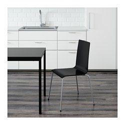 MARTIN Tuoli, hopea, musta - IKEA