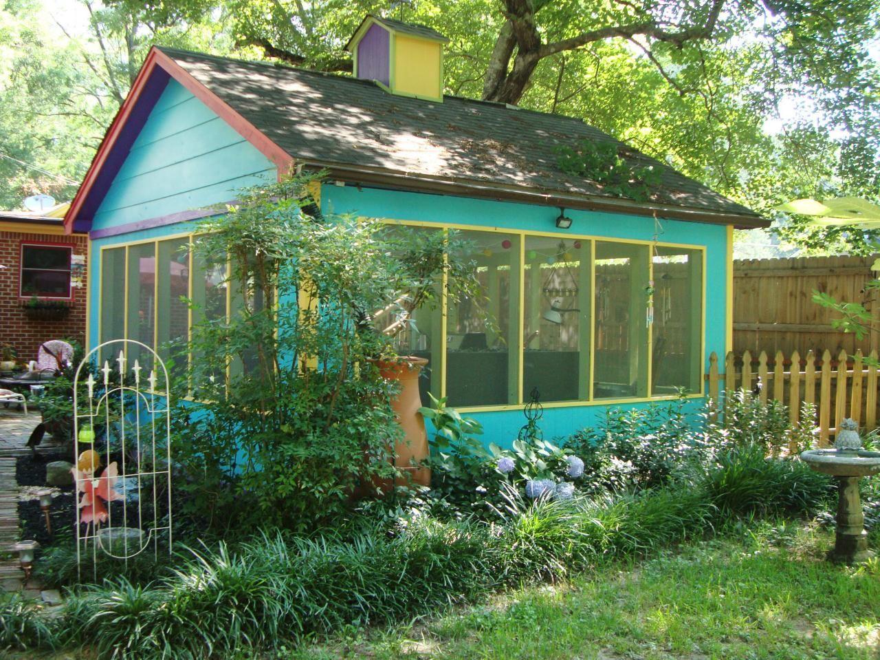 Charming Garden Retreats | Hgtv, Outdoor spaces and Screen house