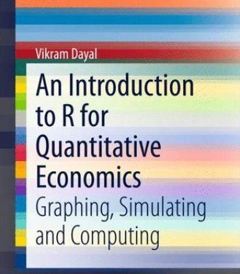 An Introduction To R For Quantitative Economics Pdf Economics