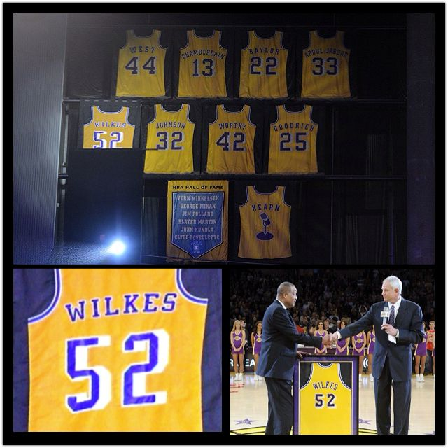 Tbt Jamal Wilkes At His Jersey Retirement In Staples Center Lakers
