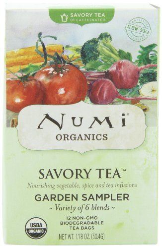 Numi Organic Savory Tea Garden Sampler  Pack, 12 Count (Total Net Wt. 1.83 oz) - http://goodvibeorganics.com/numi-organic-savory-tea-garden-sampler-pack-12-count-total-net-wt-1-83-oz/