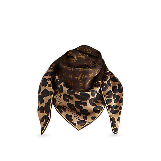 947d3816b0fd5 Leopard und Monogram Carré - Accessoires - Schals