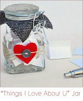 A Pick- Me-Up jar of self affirmations to make a blue day brighter! heart jar