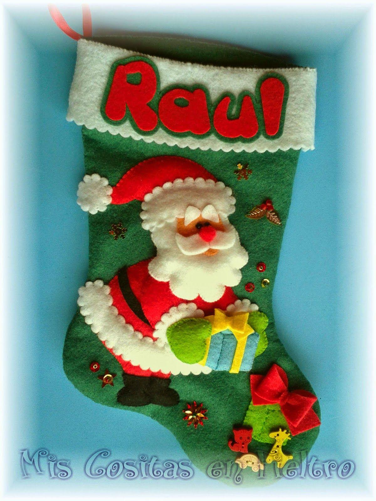 Bota de navidad calcet n de navidad christmass boot - Calcetin de navidad ...