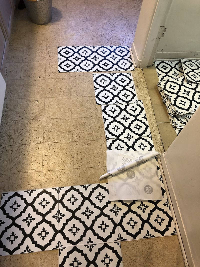 Trafficmaster Bodden Bay 12 In X 12 In Grey Peel And Stick Vinyl Tile 30 Sq Ft Case 26293061 The Home Depot Peel And Stick Vinyl Vinyl Tile Vinyl Tile Flooring