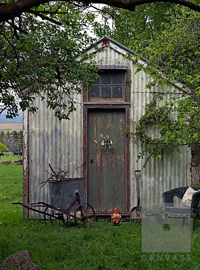 Rustic Garden Shed More