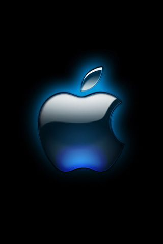 Black Glossy Apple Logo iPhone Wallpaper HD - iPhone 5 Wallpapers HD Free Download, iPhone 4S ...